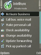 Intellisync Call Connect :: Application Settings Screen (Nokia S60)